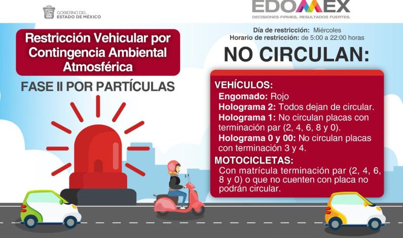 Se aplica Hoy No Circula en Toluca por elevada contaminación