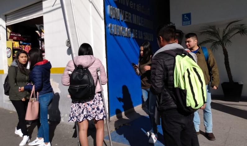 Exigen estudiantes tarifa de 10 pesos en transporte, para todos