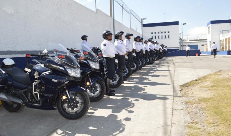 Estrena policía de Toluca 80 motocicletas
