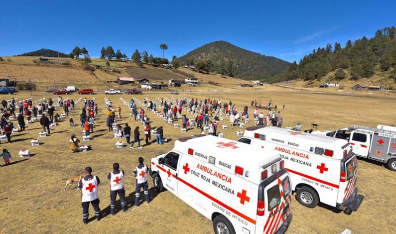 Apoya Cruz Roja a comunidades heladas del Nevado de Toluca