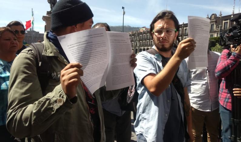 Piden retirar denuncia por daños a Legislatura