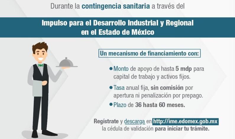 Créditos de hasta 5 millones de pesos ofrece Edomex a empresas