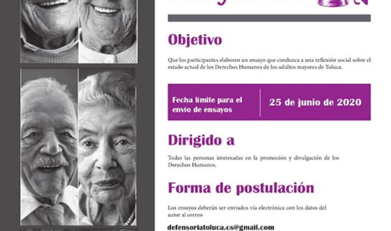 Convoca Toluca a escribir sobre derechos de adultos mayores