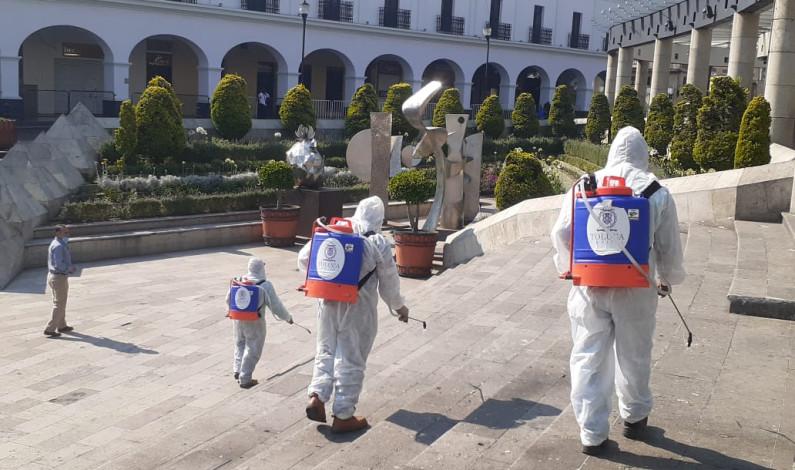 Reduce Toluca riesgo de contagios con tareas de sanitización