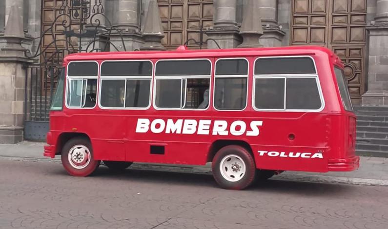 Vuelven a la vida camión de Bomberos en Toluca