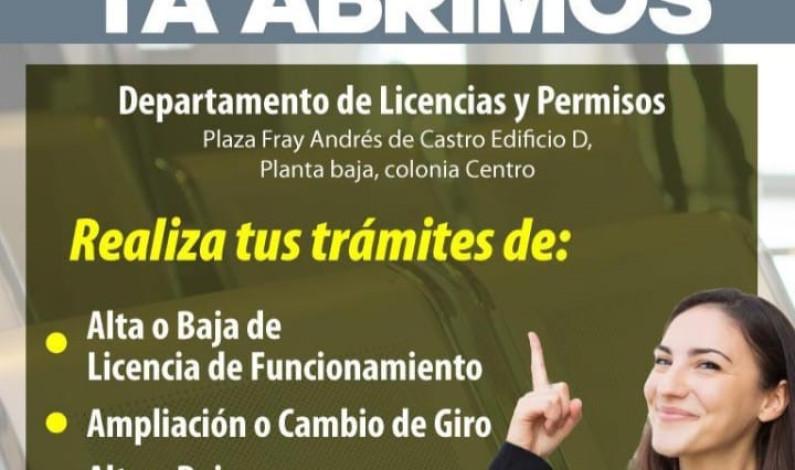 Reabre Departamento de Licencias y Permisos de Toluca