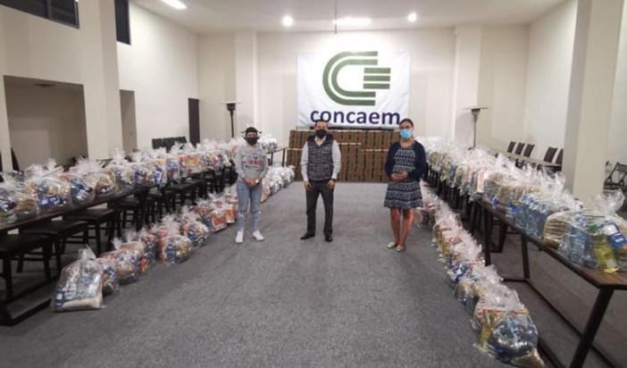 Apoya CONCAEM con 166 toneladas de víveres