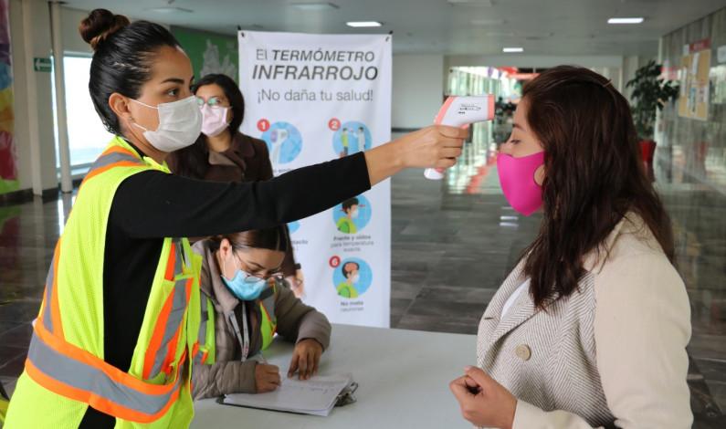 Intensifican filtro sanitario en Aeropuerto de Toluca
