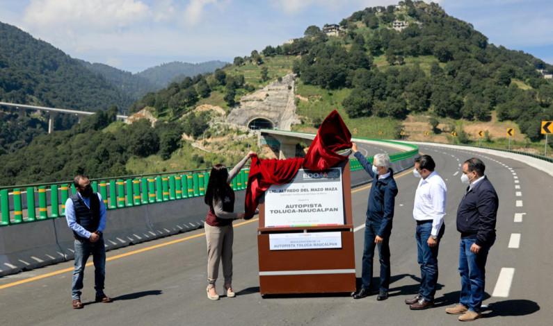 Inauguran autopista Toluca-Naucalpan