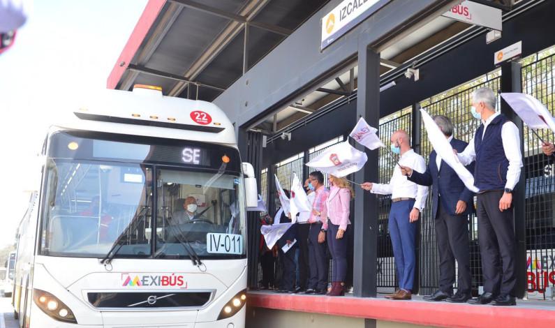 Inaugura Del Mazo Línea IV del Mexibús