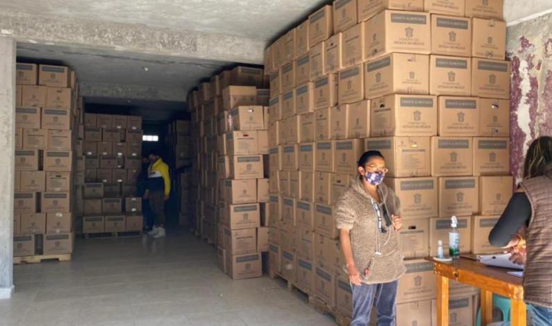 Clausuran en Metepec bodega donde repartían despensas