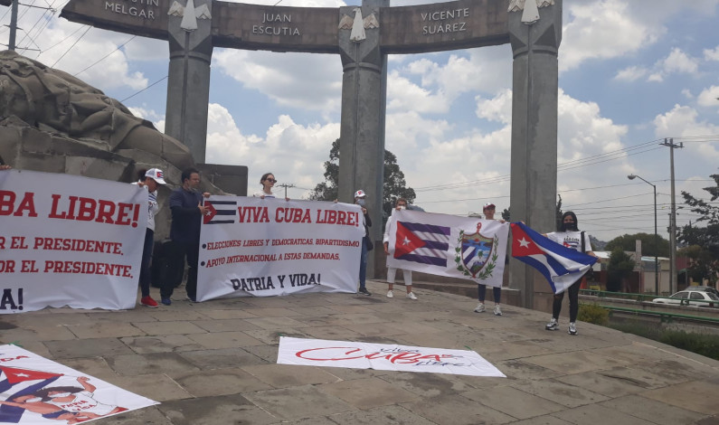 Cubanos exigen libertad