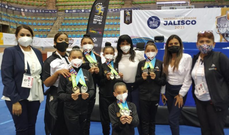 Conquista medallas equipo mexiquense de gimnasia rítmica
