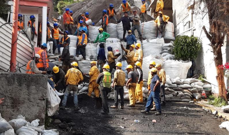 Determinan especialistas situación en zona de derrumbe en Tlalnepantla