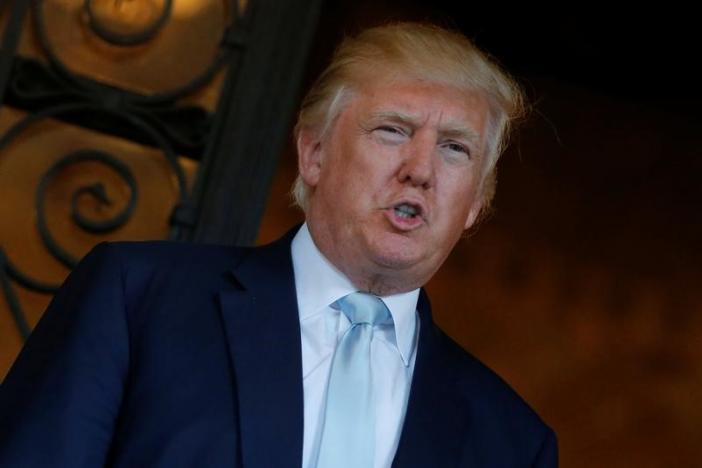 U.S. President-elect Trump delivered brief remarks to reporters at the Mar-a-lago Club in Palm Beach, Florida